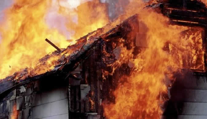 Man sets in-laws ablaze