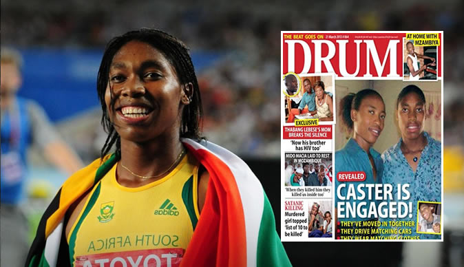 Caster Semenya reacts to rumours of engagement to fellow athlete Violet Raseboya