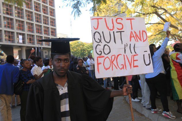 Protest Ban: Unemployed Youths Vow To Continue With Anti-Mugabe Demos