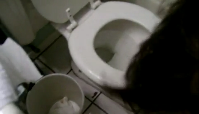 Toilet Bowl For Kissing Married Woman