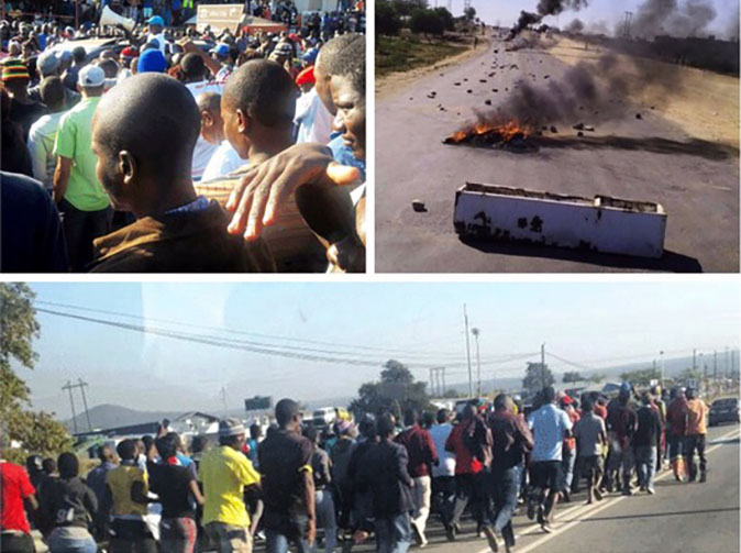 Beitbridge demo in pictures