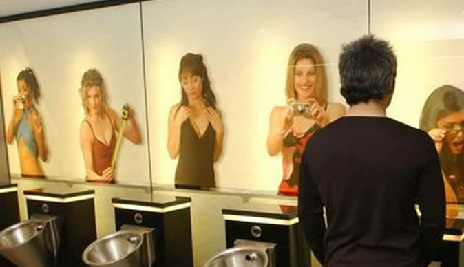 Female club goers complain about toilet 39 s 2 way mirror for Two way mirror