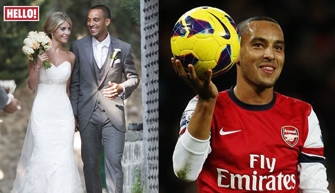 Arsenal footballer Theo Walcott speaks of wedding joy