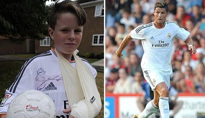 Ronaldo breaks 11-year-old boy's arm
