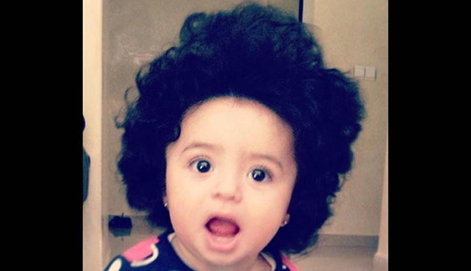 Baby accused of cheating in hair competition