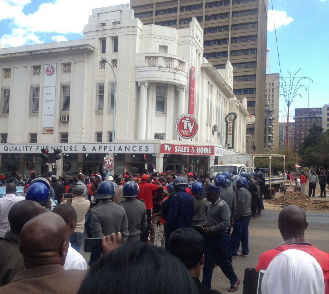 ANOTHER DEMO ERUPTS IN HARARE