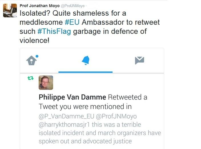 Prof Moyo Clashes With EU Ambassador Over #ThisFlag