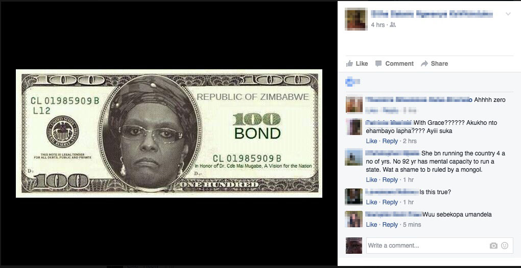 BOND NOTE With Grace Mugabe's Face Goes Viral