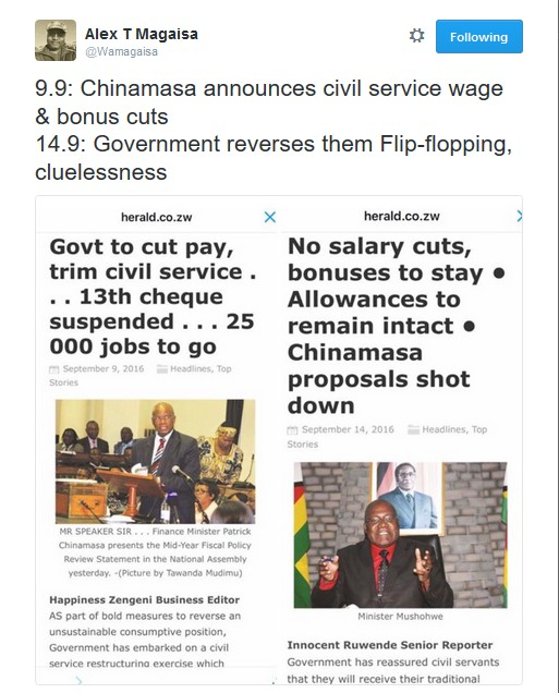 Zanu PF Leaves Citizens Confused On Salary Cut Announcement