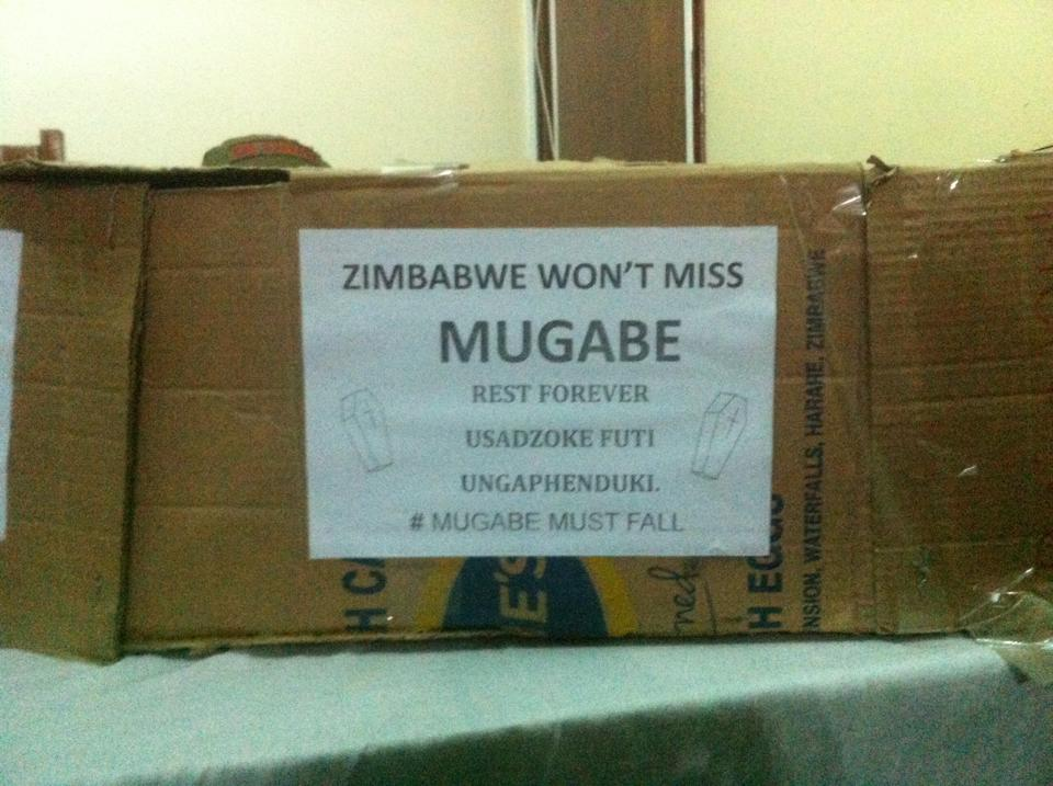PICTURES: See #Tajamuka Carrying Mugabe's Coffin