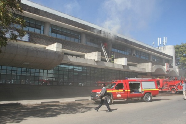 PICTURES: Masvingo POSB Bank Catches Fire