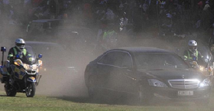 President Motorcade Collides With Kombi