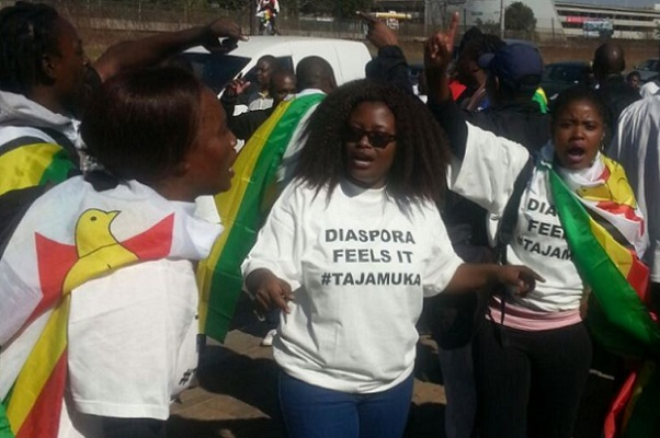 Zimbabweans Living in Diaspora Join #ShutDownZimbabwe